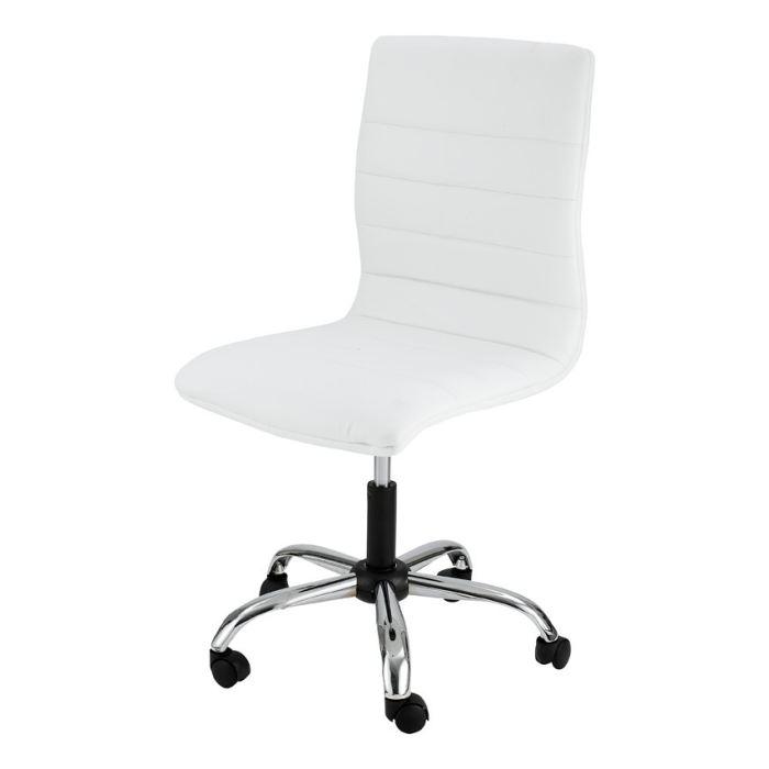 chaise bureau blanche
