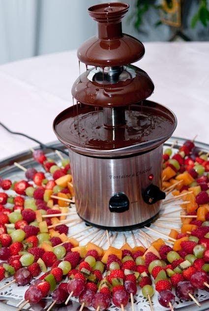 fontaine en chocolat