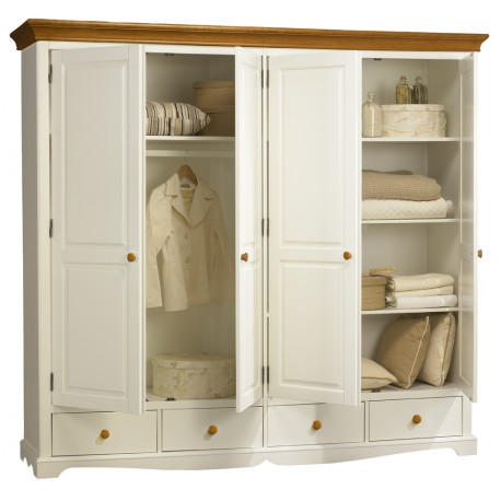 armoire penderie blanche