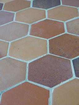 carrelage imitation tomette hexagonale