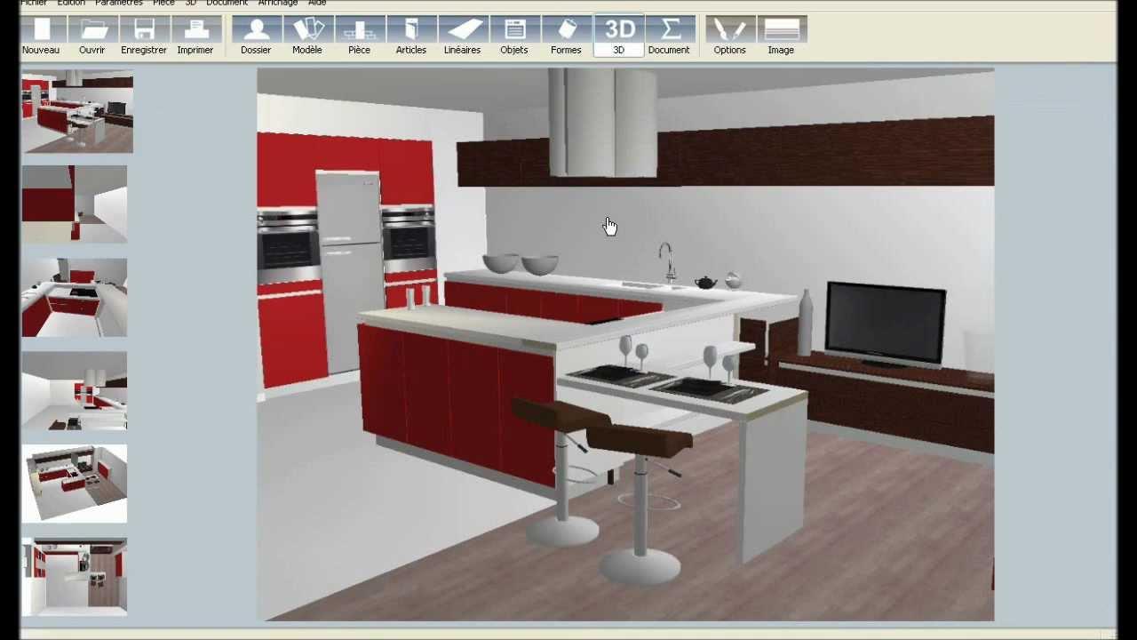 dessin cuisine 3d