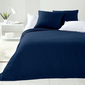 dessus de lit bleu