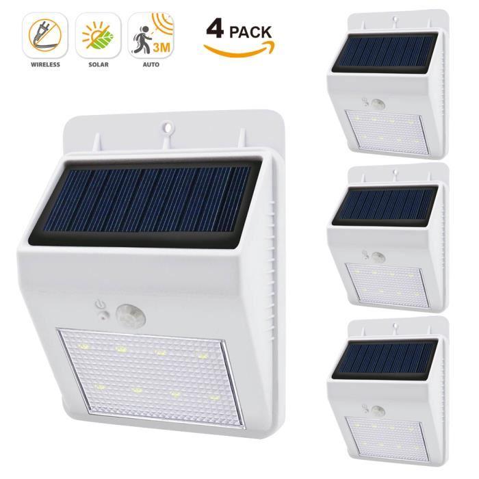 eclairage exterieur solaire avec detecteur