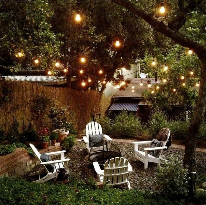 guirlande jardin