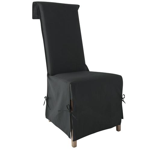 housse de chaise noir