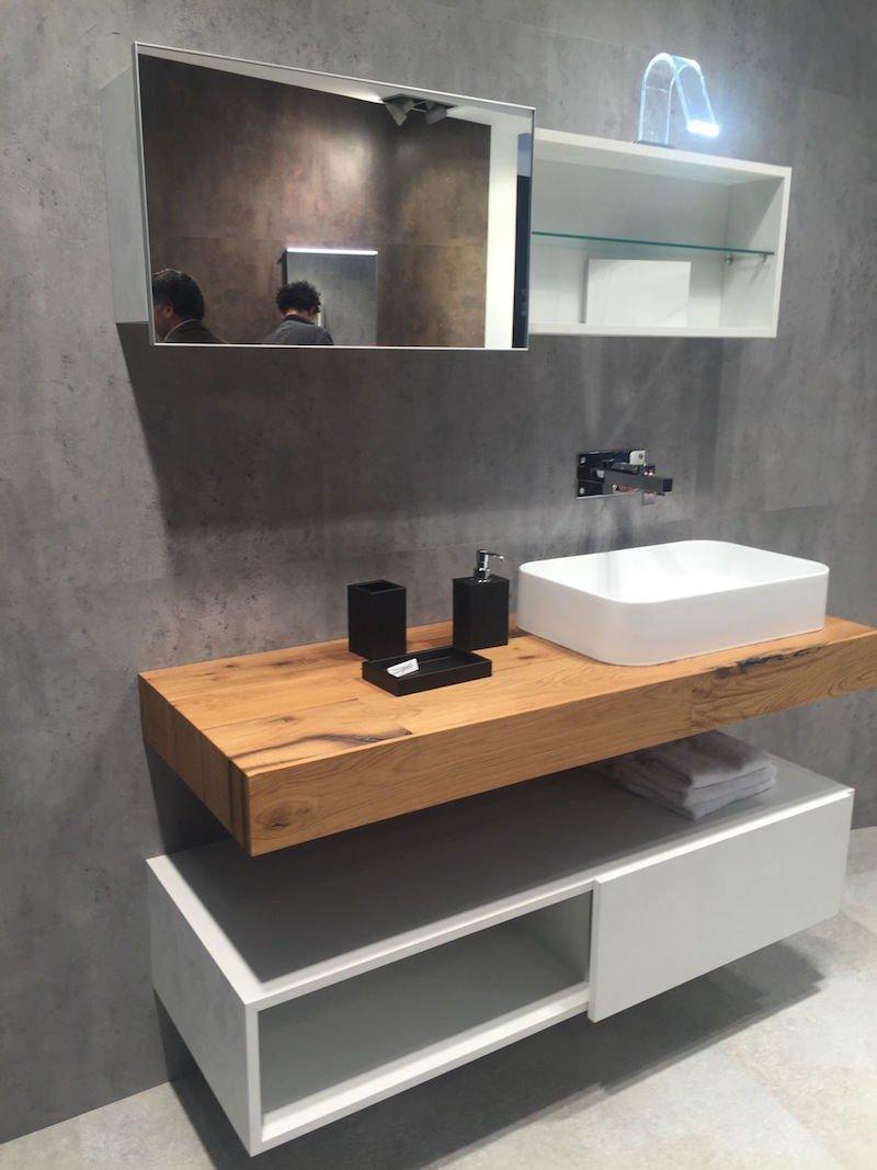 plan de travail bois salle de bain