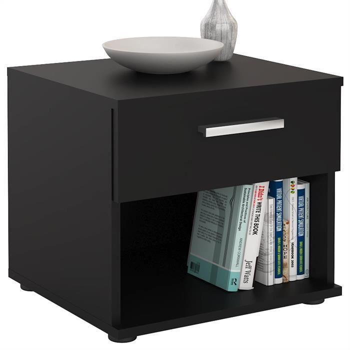 table de chevet noir