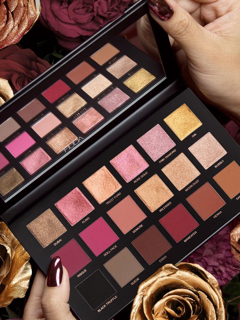 huda beauty rose gold palette