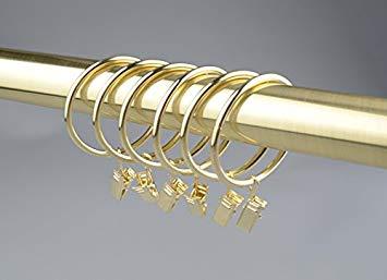 anneaux rideaux avec pinces