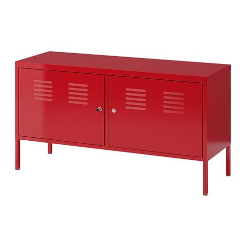 armoire métallique rouge