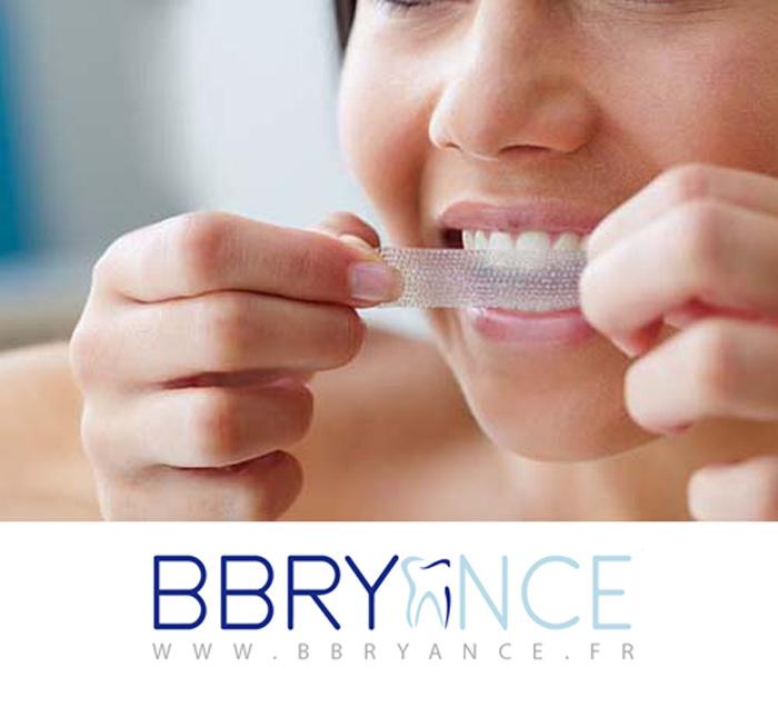 bandes blanchissantes dents