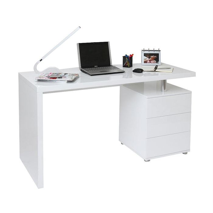 bureau blanc avec tiroir