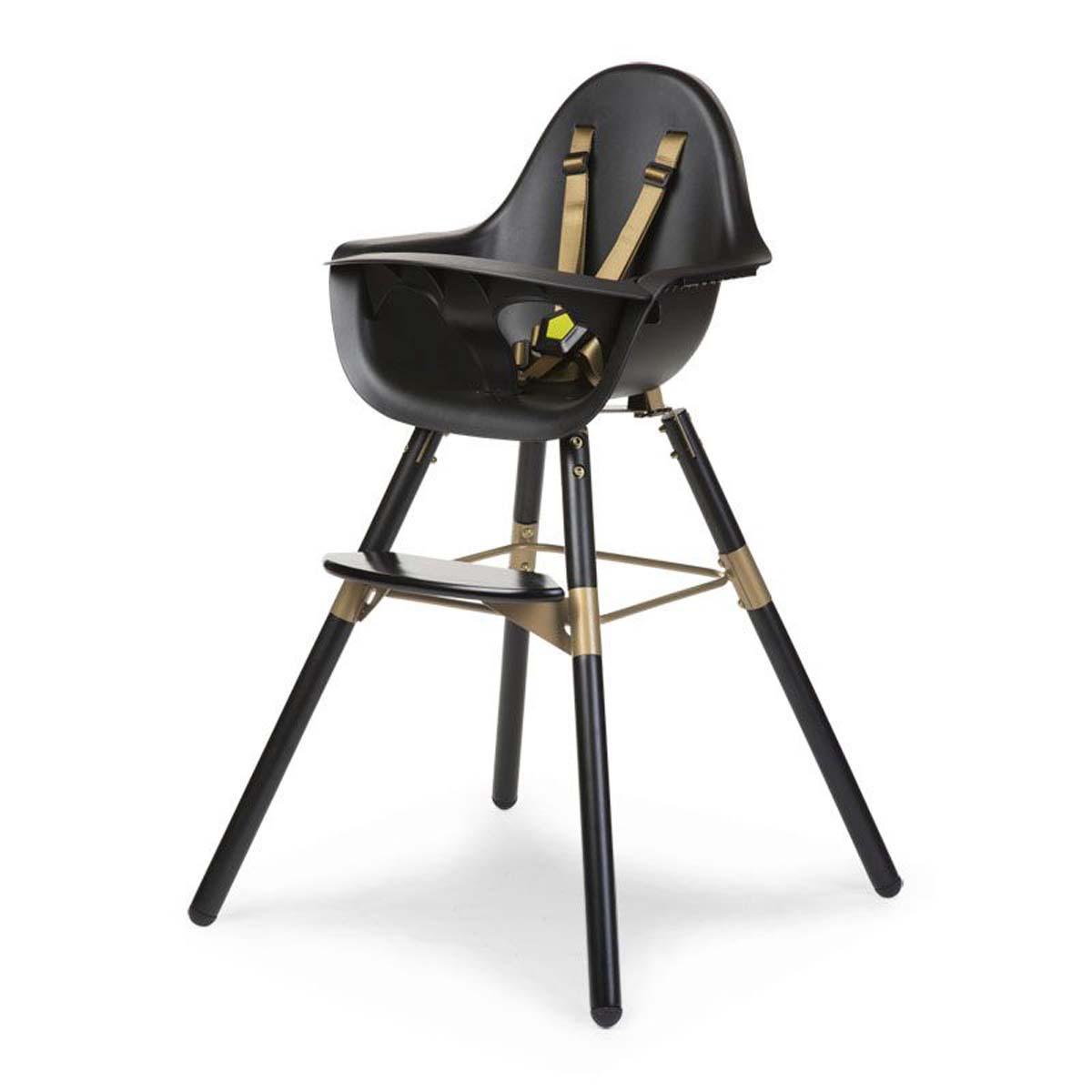 chaise haute noir