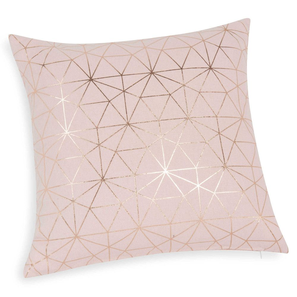 coussin rose gold