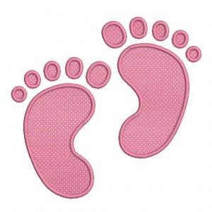 empreinte de pied bébé