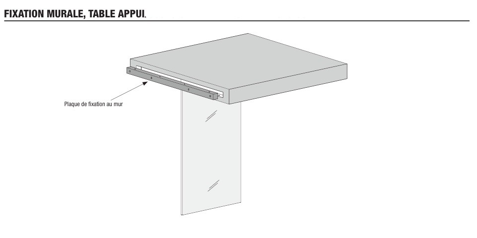 fixation table murale