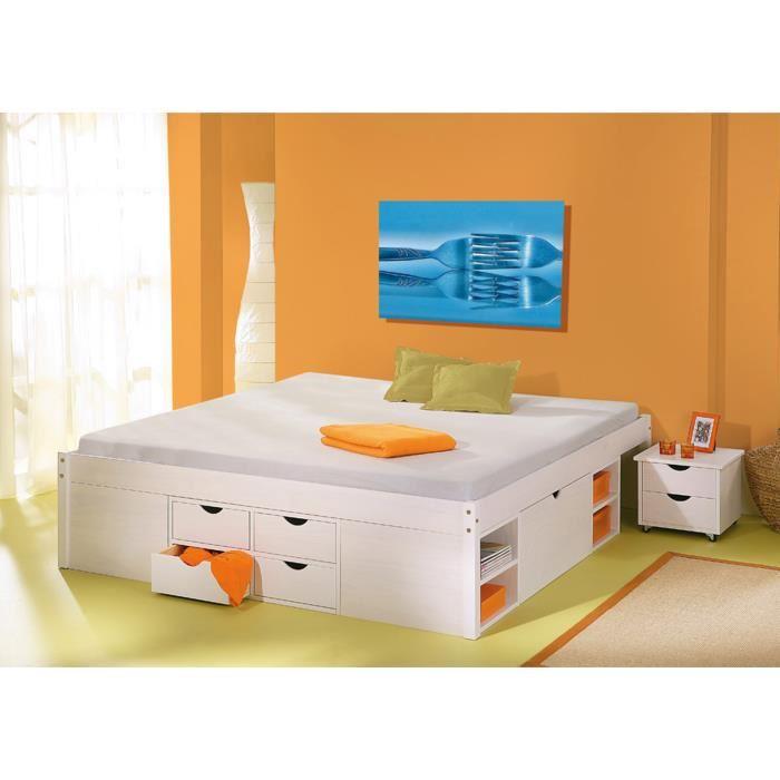 lit 2 personnes avec tiroir