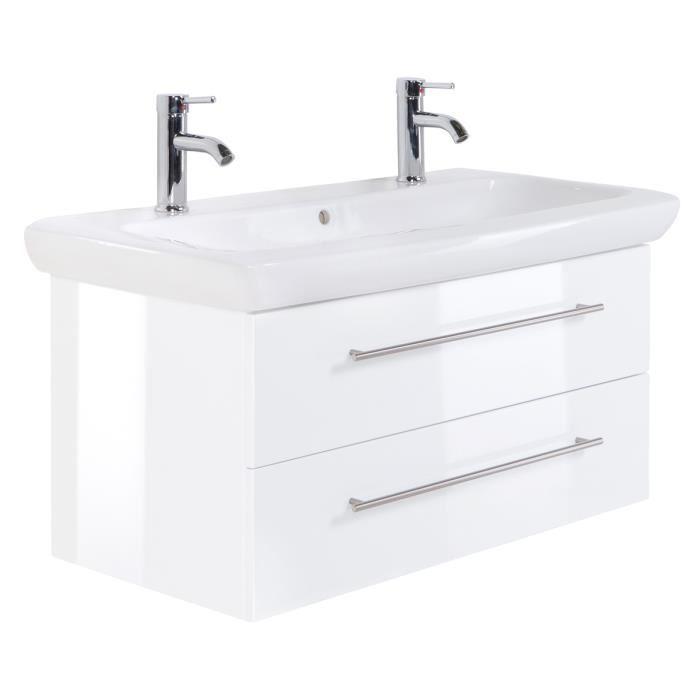 ▷ Avis Meuble salle de bain 100 cm double vasque ▷ Les ...