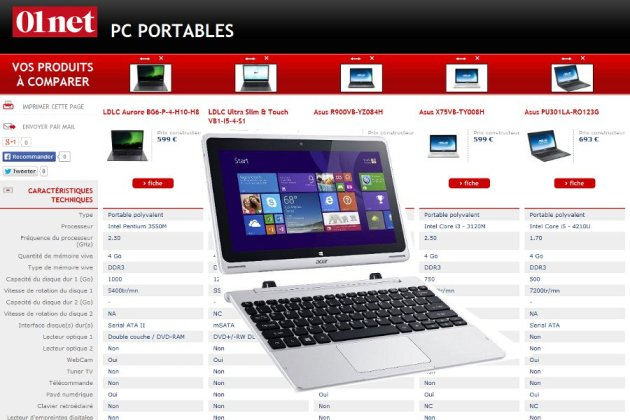 ordinateur portable comparatif