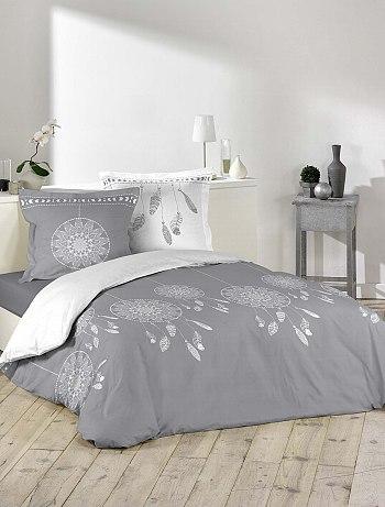 parure de lit gris