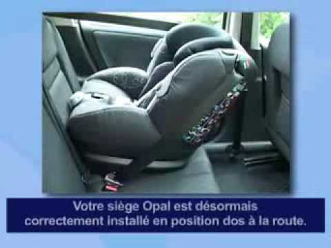 siege auto dos route isofix