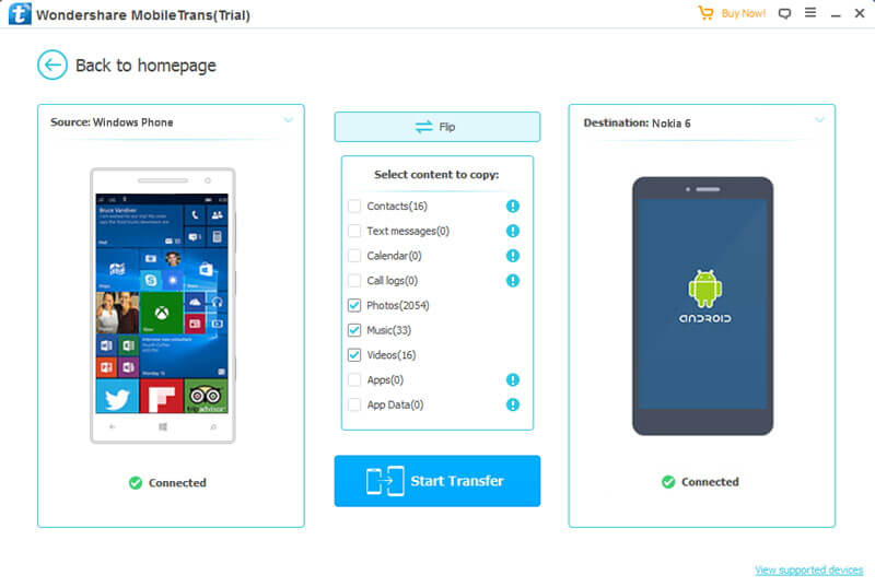 transferer contact windows phone vers android